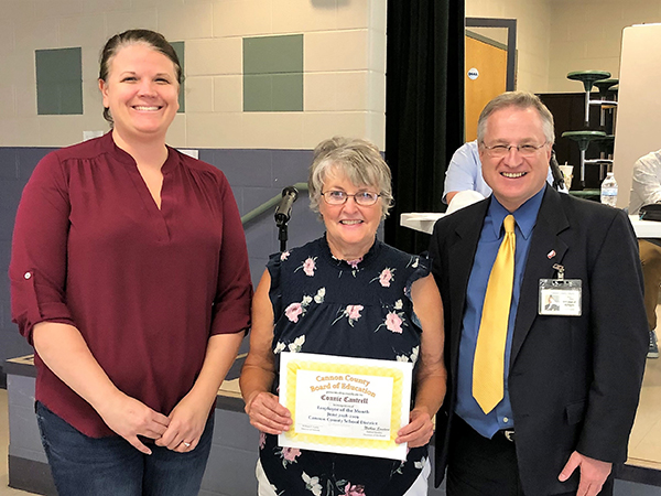 Connie Cantrell named Cannon County Schools Employee of the Month