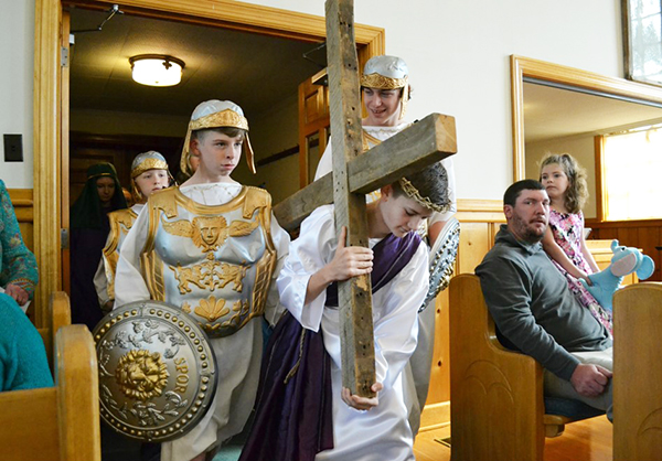 ABC youth present crucifixion pageant