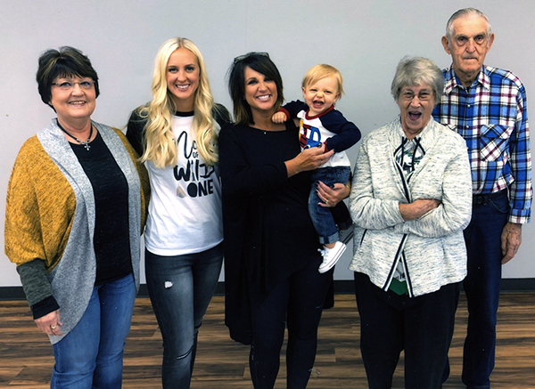 Five generations of Brysons