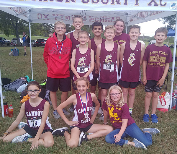 Middle school boys race to second place finish